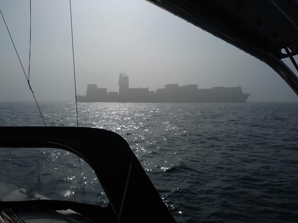 OceanTrax boat delivery Sailing in fog