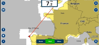 Boat delivery across Biscay