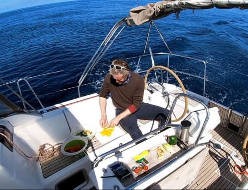 Provisioning a yacht for a long passage
